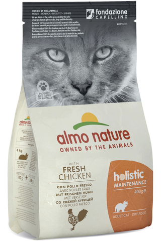 Almo Nature 400g Holistic Cat kana & riisi kuivaruoka kissoille