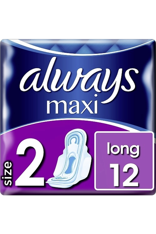 Always Maxi Long 2 with wings terveysside 12kpl