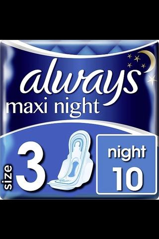 Always Maxi Night 3 with wings terveysside 10kpl