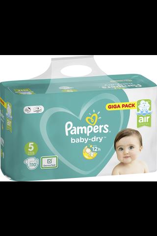 Pampers 110kpl BabyDryS5 11-16kg vaippa