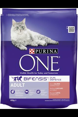 Purina One 800g Adult Runsaasti Lohta ja Täysjyväviljaa kissanruoka
