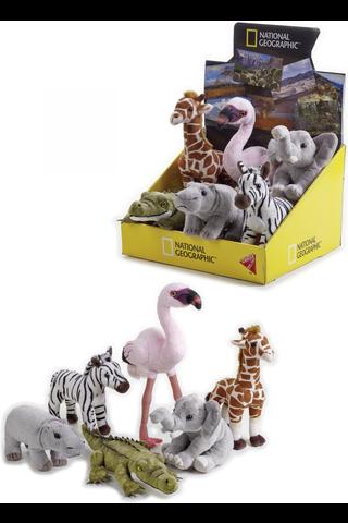 National Geographic Savannin eläinpennut pehmo 17cm