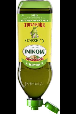 Monini Classico Squeezable  Extra Virgin -ekstra-neitsytoliiviöljy 450 ml
