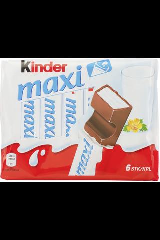 Kinder Maxi maitosuklaata maitoisalla täytteellä 126g (6kpl)