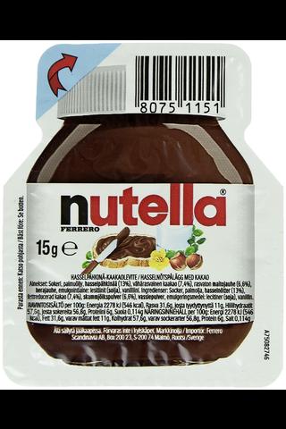 Nutella hasselpähkinä-kaakaolevite 15g