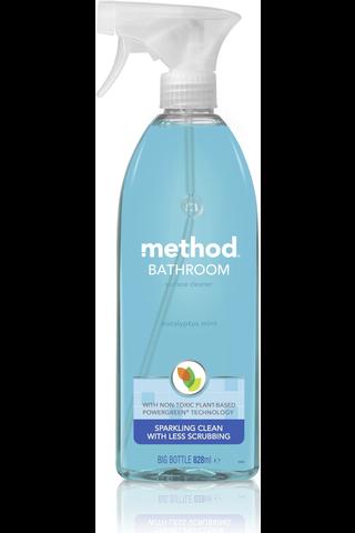 Method 828ml puhdistussuihke kylpyhuoneen pinnoille eukalyptus-minttu