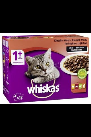 Whiskas 1+ Perinteinen lajitelma kastikkeessa 12x100g