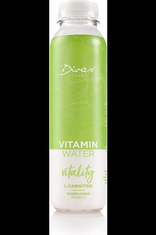 Diva's Vitamin Water Vitality L-Carnitine Greenlemon & Pomelo 400ml PET