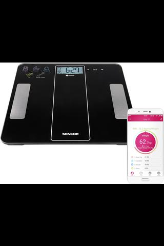 Sencor Bluetooth Fitness applikaatio vaaka SBS 8000BK