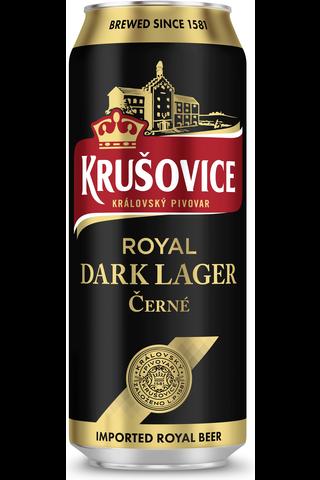 Krusovice 0,5l Cerne tumma lager olut 3,8% tlk