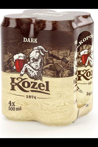 Velkopopovicky 0,5l Kozel Dark olut 3,8% 4-pack
