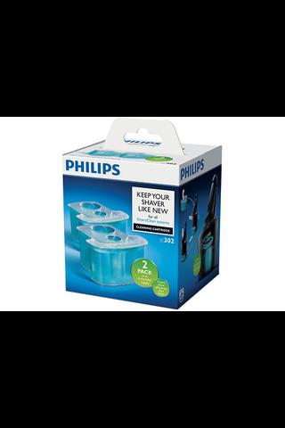 Philips JC302/50 parranajokoneen puhdistuskasetti 2 kpl