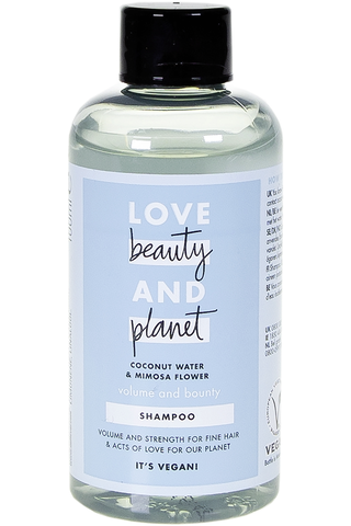 Love Beauty and Planet 100ml Volume and Bounty shampoo
