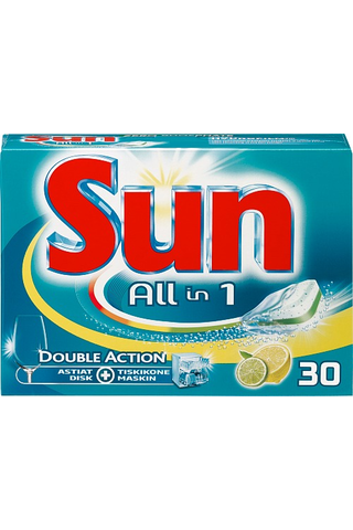 Sun 30 kpl konetiskitabletti All-in-1 Lemon