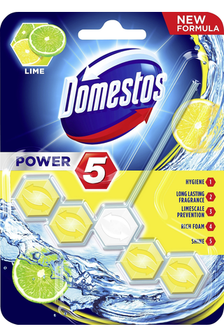 Domestos Power5 WC-raikastin Lime