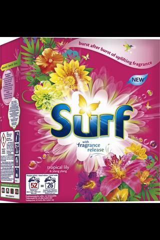 Surf Pyykinpesujauhe Tropical Lily & Ylang Ylang 1,61 kg