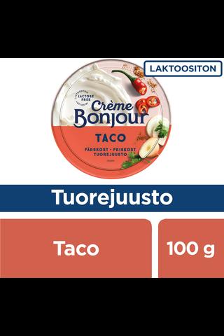 Creme Bonjour 100g Taco tuorejuusto laktoositon