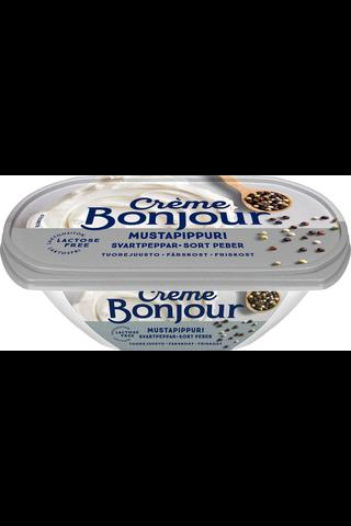 Creme Bonjour 200g Mustapippuri tuorejuusto laktoositon