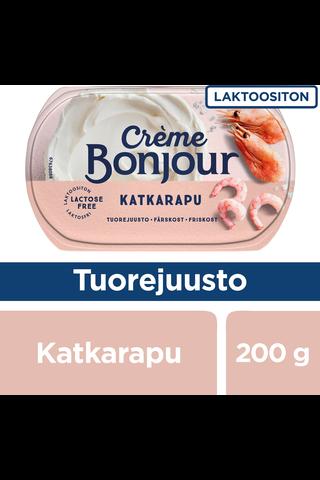 Creme Bonjour 200g Katkarapu tuorejuusto laktoositon