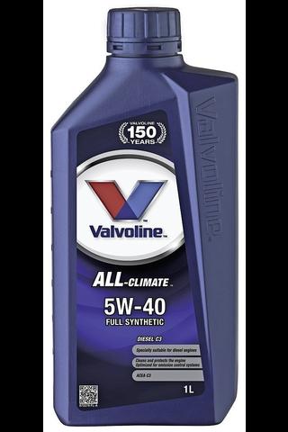 Valvoline All Climate Diesel C3 5W-40 moottoriöljy 1l