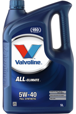 Valvoline All Climate 5W-40 moottoriöljy 5l