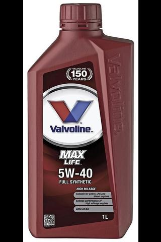 Valvoline Maxlife 5W-40 moottoriöljy 1l