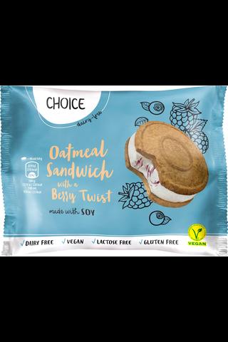 Choice 90ml Oatmeal Sandwich with a Berry Twist keksijäätelö