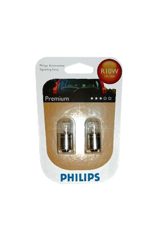 Philips Automotive Premium autolamppu R10W 12V 10W 2kpl