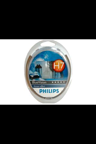 Philips H7 BlueVision autolamppu 12V 55W 2kpl