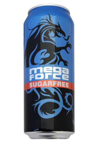 Mega force 0,5l sugarfree energy drink energiajuoma