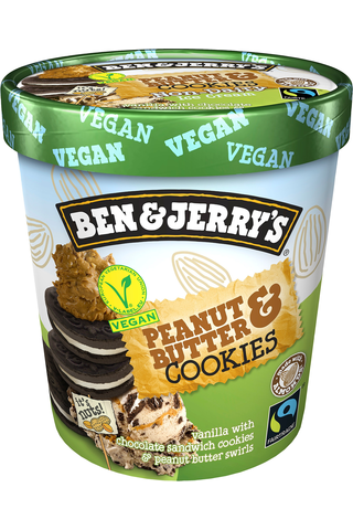B&J 500ml Non Dairy Peanut Butter Cookie