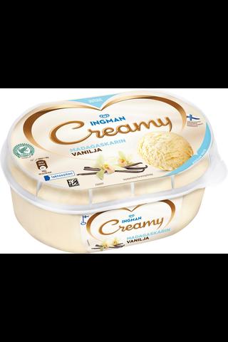 Ingman Creamy 850ml Madagaskarin Vanilja jäätelö laktoositon
