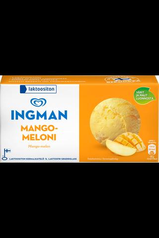 Ingman 1LT / 489g jäätelö kotipakkaus Mango-Meloni laktoositon