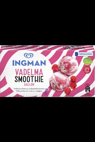 Ingman 1l/567g Vadelma Smoothie jäätelö