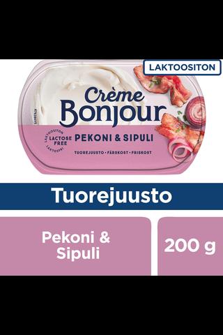 Crème Bonjour 200g Pekoni & Sipuli tuorejuusto laktoositon