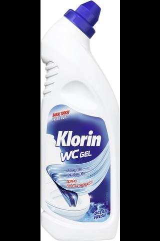 Klorin WC Gel Ocean Fresh WC-puhdistusgeeli 750ml