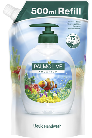 Palmolive Aquarium nestesaippua täyttöpussi 500ml