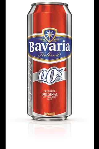 Bavaria 0,0% Premium Original Non-Alcoholic Beer 50 cl tölkki alkoholiton olut