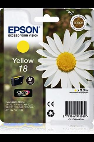 Epson  18 väripatruuna  Keltainen