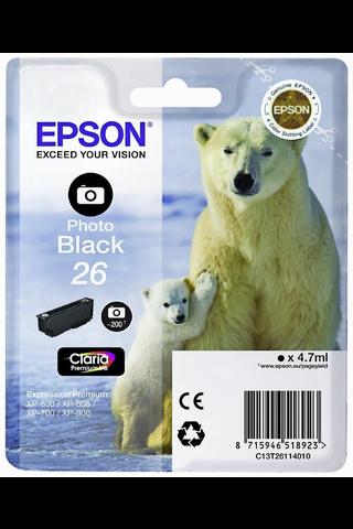Epson 26 mustepatruuna valokuvamusta