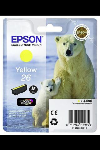 Epson 26 mustepatruuna keltainen