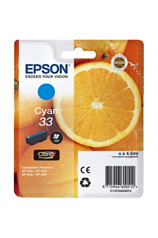Epson 33 väripatruuna  cyan