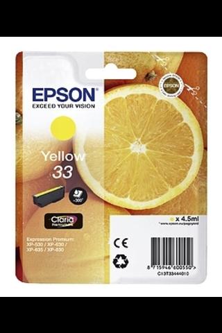 Epson 33 mustepatruuna keltainen