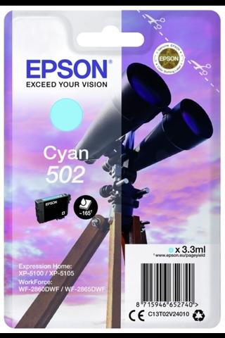 EPSON 502 mustepatruuna syaani