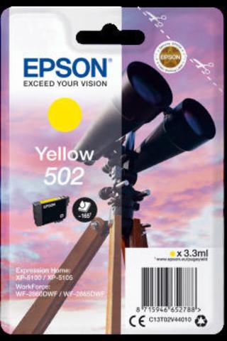 EPSON 502 mustepatruuna keltainen