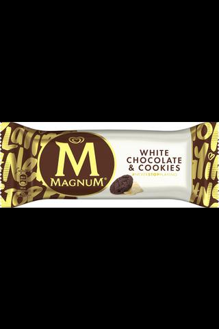Magnum 90ml/74g White Chocolate & Cookies jäätelöpuikko