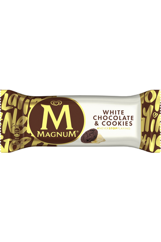 Magnum 90ML / 74g jäätelöpuikko White Chocolate & Cookies