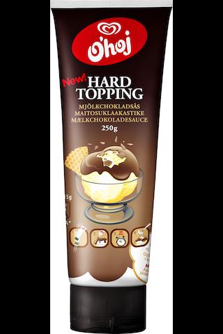 O'hoj 250g Hard Topping maitosuklaakastike