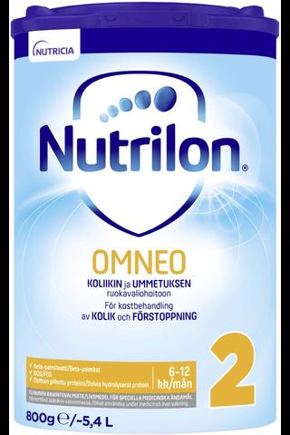 Nutrilon Omneo 2 800g kliininen ravintovalmiste imeväisikäiselle jauhe 6-12kk