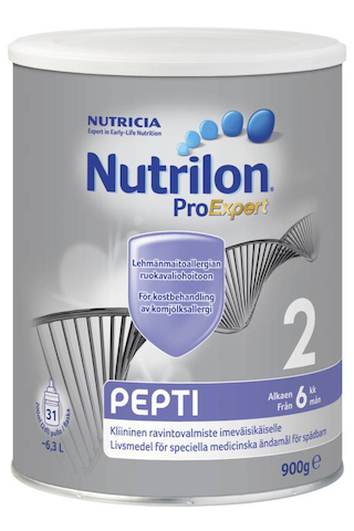 Nutricia Nutrilon Pepti 2 900g kliininen ravintovalmiste imeväisikäiselle jauhe alk 6 kk